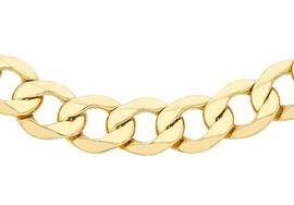 Close Out Deal 9K Y Gold Curb Necklace (Size 18), Gold wt 16.20 Gms.