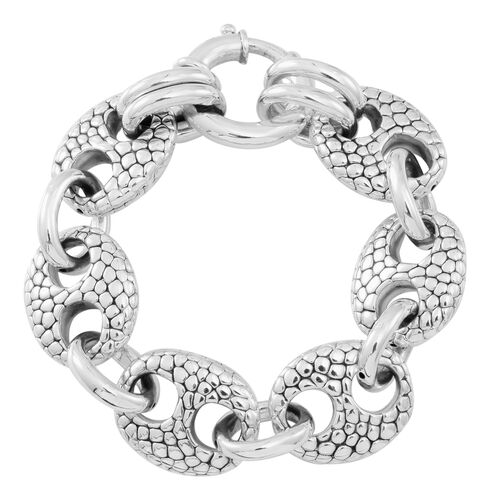 Statement Collection Sterling Silver Anchor Link Bracelet (Size 7.5), Silver wt 23.98 Gms.