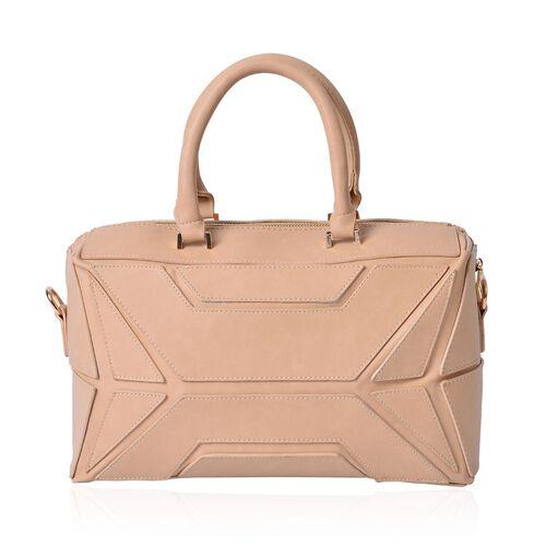 Anissa Beige Colour Tote Bag (Size 32x20x17 Cm)