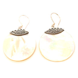 Treasures of Bali Abalone Shell Earrings in Sterling Silver 20.250 Ct.