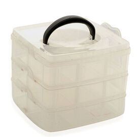 Stackable Three Level Multipurpose Storage Caddy (Size 1.5x6 in)