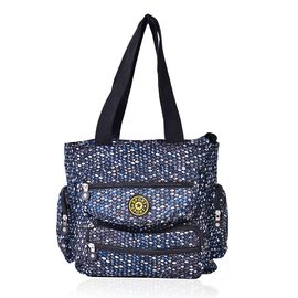 Multi Colour Diamond Pattern Waterproof Sport Bag with External Zipper Pocket (Size 28x28x10 Cm)
