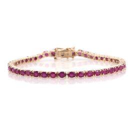 9K Y Gold AAA Burmese Ruby (Ovl) Tennis Bracelet (Size 7.5) 9.250 Ct.