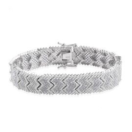 Diamond (Rnd) Bracelet (Size 7) in Platinum Overlay Sterling Silver 2.00 Ct.