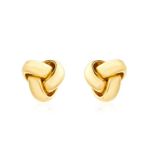Close Out Deal ILIANA 18K Y Gold Triple Knot Stud Earrings (with Push Back)