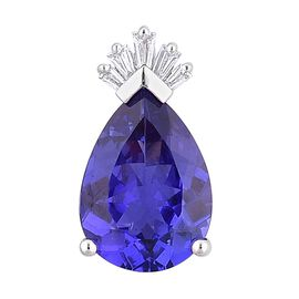 ILIANA AAA Tanzanite (4.00 Ct) and Diamond 18K W Gold Pendant  4.050  Ct.