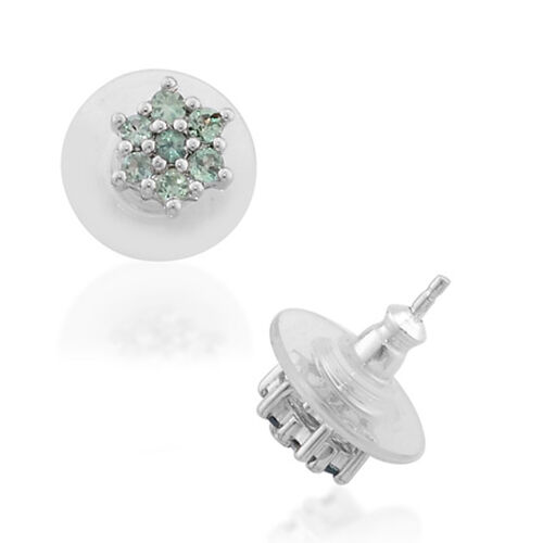 Alexandrite Earring Platinum Overlay Sterling Silver  1.000  Ct.