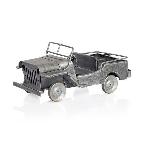 Home Decor - Silver Colour Handmade Old Jeep