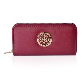 Arbra Deep Red Colour Wallet (Size 19.5x9.5x3 Cm)