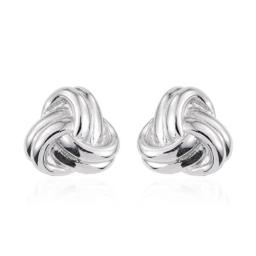 Platinum Overlay Sterling Silver Knot Cufflinks, Silver wt 7.00 Gms.
