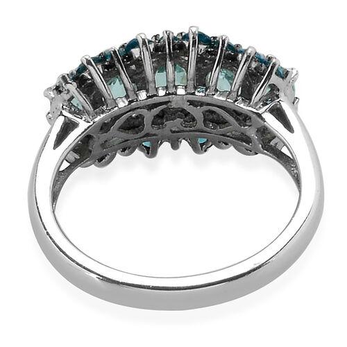 Paraibe Apatite (Ovl) Malgache Neon Apatite Ring in Platinum Overlay Sterling Silver  2.000 Ct.