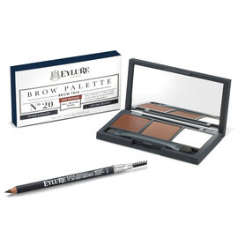 Eyelure Brow Kit -Firm Brow Pencil Mid Brown and Eye Brow Palette Mid Brown