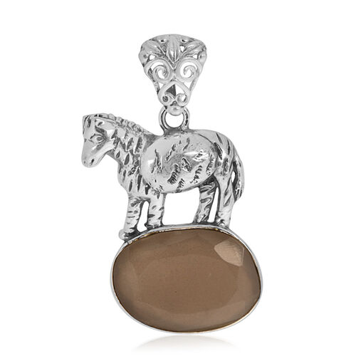 Creature Couture - Zebra Pendant with Sri Lankan Titanium Moonstone in Sterling Silver 6.000 Ct.