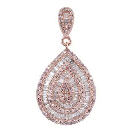 ILIANA 18K R Gold Natural Pink Diamond (Rnd), White Diamond (SI) Pendant 1.000 Ct.