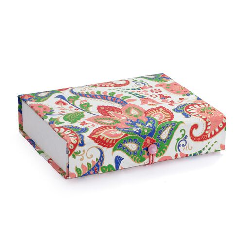 Multi Colour Foldable Handmade Paper Jewellery Box with Mirror Inside