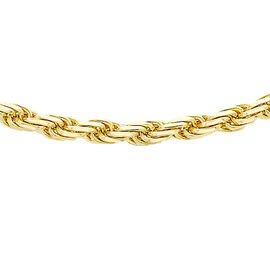JCK Vegas Collection 9K Yellow Gold Diamond Cut Rope Chain Necklace Size 20 Inch, 9.60 Gms.