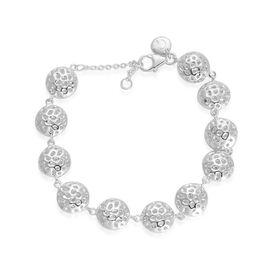 RACHEL GALLEY Sterling Silver Mini Globe Bracelet (Size 8), Silver wt 16.43 Gms.