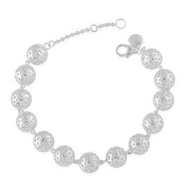 RACHEL GALLEY Sterling Silver Mini Globe Bracelet (Size 8), Silver wt 20.29 Gms.
