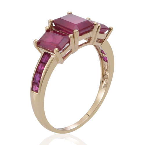 9K Y Gold African Ruby (Oct 5.20 Ct), Burmese Ruby Ring 6.000 Ct.