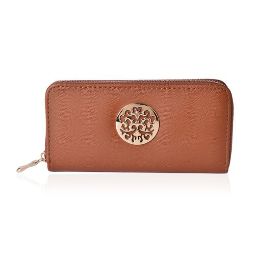 Arbra Italian Tan Colour Wallet (Size 19.5x9.5x3 Cm)