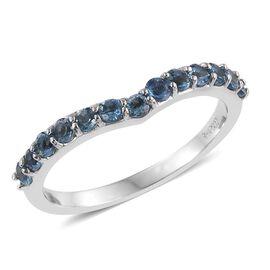 RHAPSODY 950 Platinum 0.50 Carat Santa Maria Aquamarine Wishbone Ring