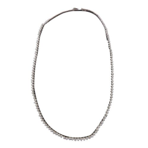 ILIANA 18K W Gold Diamond (Rnd) (Clarity SI Colour G to H) Necklace (Size 16)  4.000 Ct.