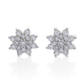 RHAPSODY 950 Platinum SGL Certified Diamond (Rnd) (VS/E-F) Stud Earrings (with Screw Back) 0.500 Ct.