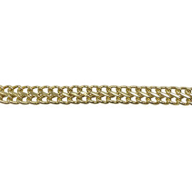 Close Out Deal 9K Y Gold Otto Link Necklace (Size 17), Gold Wt 6.01 Gms.
