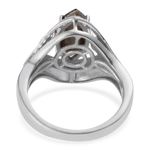 Crystal from Swarovski - Tanzanite Colour Crystal (Mrq), Simulated Diamond Ring in ION Plated Platinum Bond