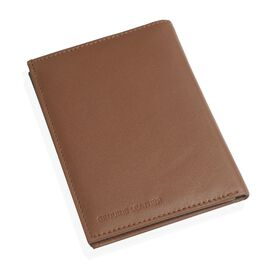 Genuine Leather Chocolate Colour RFID Blocker Passport Wallet (Size 16X12 Cm)