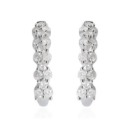 9K W Gold SGL Certified Diamond (Rnd) (I3/ G-H) Earrings (with Push Back) 0.500 Ct.