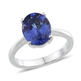 RHAPSODY 950 Platinum AAAA Tanzanite (Ovl) Solitaire Ring 2.750 Ct.