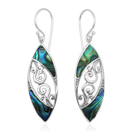 (Option 2) Royal Bali Collection Abalone Shell Hook Earrings in Sterling Silver 8.000 Ct.