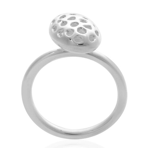 RACHEL GALLEY Sterling Silver Charmed Pebble Lattice Ring, Silver wt 4.36 Gms.