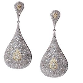 Natural Champagne Diamond (Rnd) Earrings (with Push Back) in Sterling Silver 6.500 Ct.