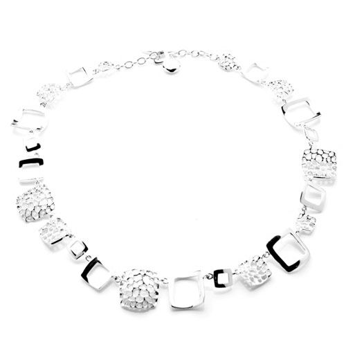 RACHEL GALLEY Sterling Silver Deco Necklace (Size 18), Silver wt 36.00 GM