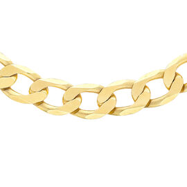Close Out Deal Italian 9K Y Gold Diamond Cut Flat Curb Chain (Size 20), Gold Wt 33.20 Gms.