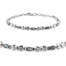 Narsipatnam Alexandrite (Ovl) Bracelet (Size 7.5) in Platinum Overlay Sterling Silver 1.703 Ct.