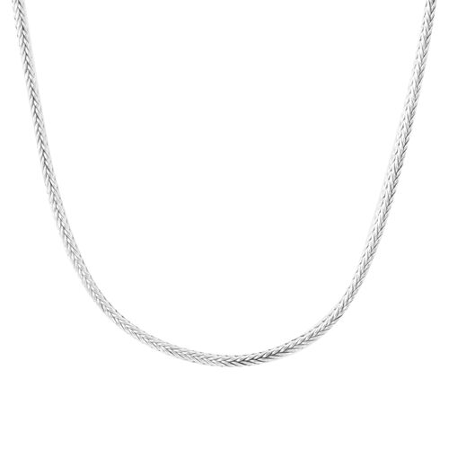 Royal Bali Collection Sterling Silver Tulnag Naga Necklace (Size 20), Silver wt 47.85 Gms.