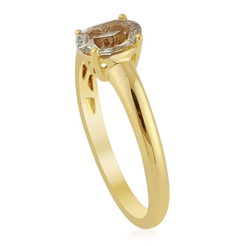 14K Y Gold Zultanite (Ovl) Solitaire Ring  0.750 Ct.