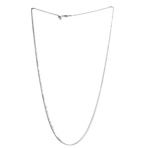 Sterling Silver Adjustable Diamond Cut Bead Chain (Size 24)