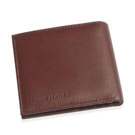 Genuine Leather Burgundy Colour RFID Multi Utility Wallet (Size 11x10 Cm)
