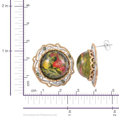 Natural Flower Preserved Stud Earrings (with Push Back) in Stainless Steel