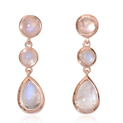 Rainbow Moonstone (Pear) Earrings in Sterling Silver 6.250 Ct.
