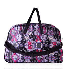 Sail Print Large Weekend Carryall Multi Colour Bag With Front Compartment and Shoulder Strap(Size 48x31x13 Cm)