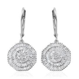 Ballerina Diamond Lever Back Earrings in Platinum Overlay Sterling Silver 1.000 Ct.