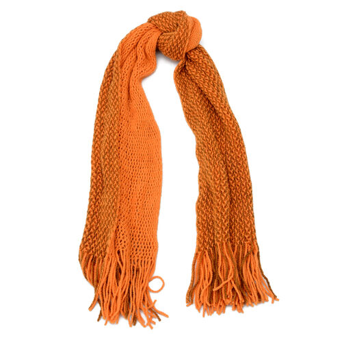 Orange Colour Scarf (Size 130x35 Cm)