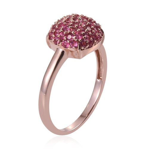 Mahenge Spinel (Rnd) Cluster Ring in Rose Gold Overlay Sterling Silver 1.300 Ct.