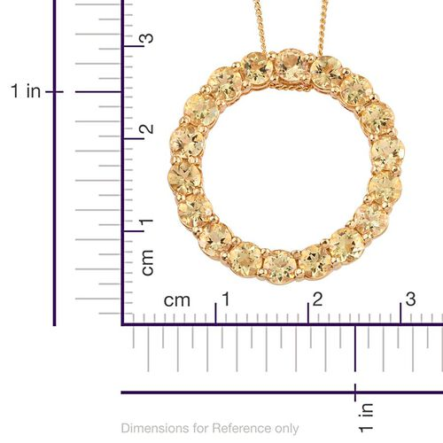 Marialite (Rnd) Circle of Life Pendant With Chain in 14K Gold Overlay Sterling Silver 2.500 Ct.