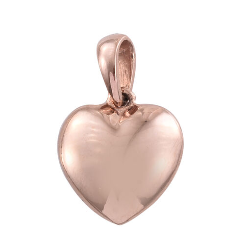 Silver Heart Pendant in Rose Gold Overlay